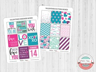 Build Your Own Bundle – Valentine's Day Designer Boxes Planner Stickers