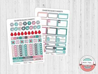 Diabetes Basics Variety Planner Stickers