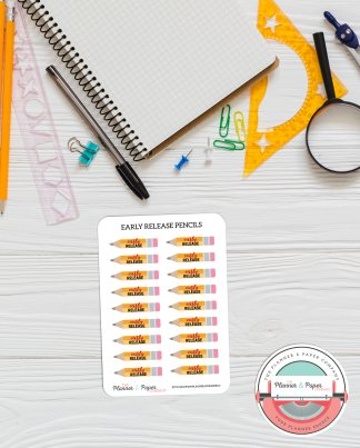 Early Release Pencil Planner Stickers