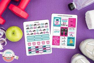 Fitness Planner Sticker Kit