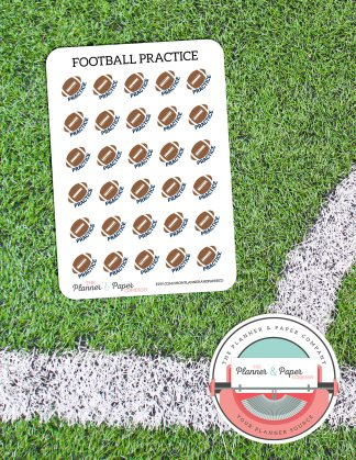 Football Practice – Planner Stickers Small Sheet