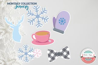 January Die Cuts (6 Count)