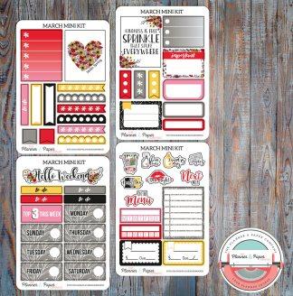 March Mini Planner Sticker Kit
