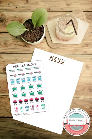 Meal Plan Icons – Planner Stickers Small Sheet