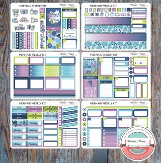 Mermaid Weekly Planner Sticker Kit