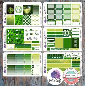 St. Patrick's Day Planner Sticker Kit – Collaboration with Girl is Crafti