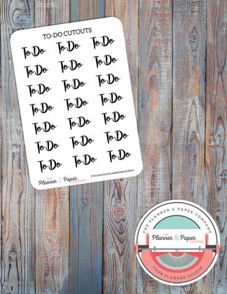 To-Do Cutout Planner Stickers Small Sheet