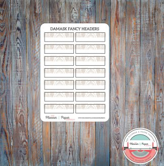 Mandala Labels Planner Stickers