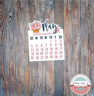 May Calendar Die Cut