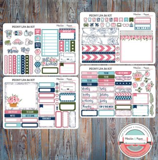 Peony Lights Planner Action B6 Weekly Planner Sticker Kit