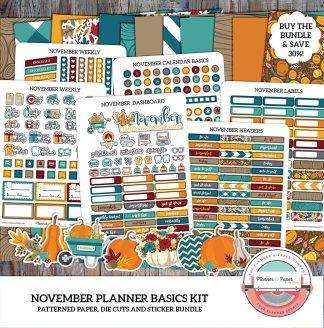 November Monthly Planner Basics Kit