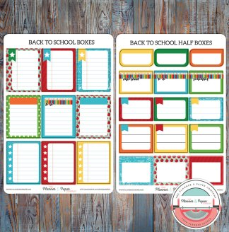 Back to School Boxes Planner Stickers