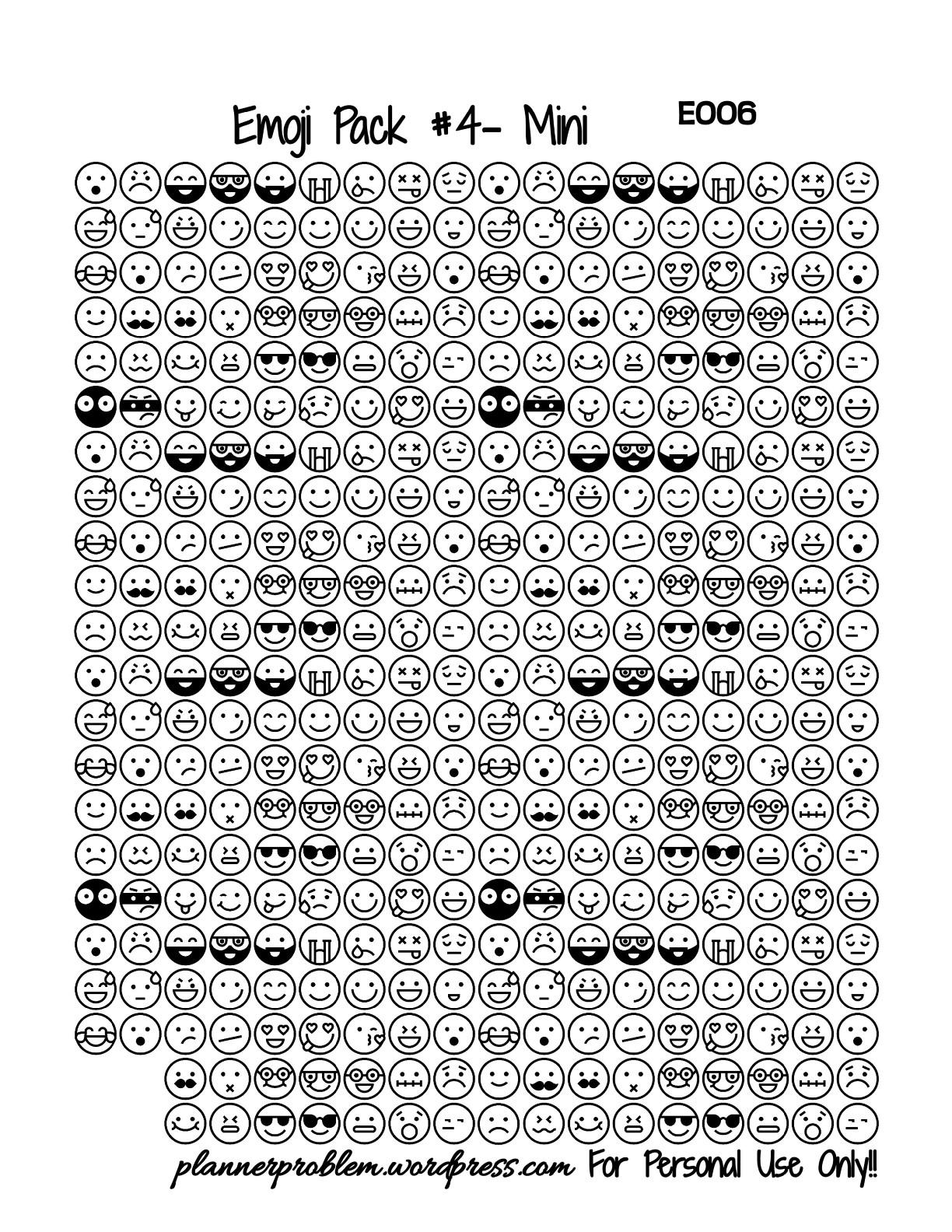 Emoji Pack 4 Black Amp White
