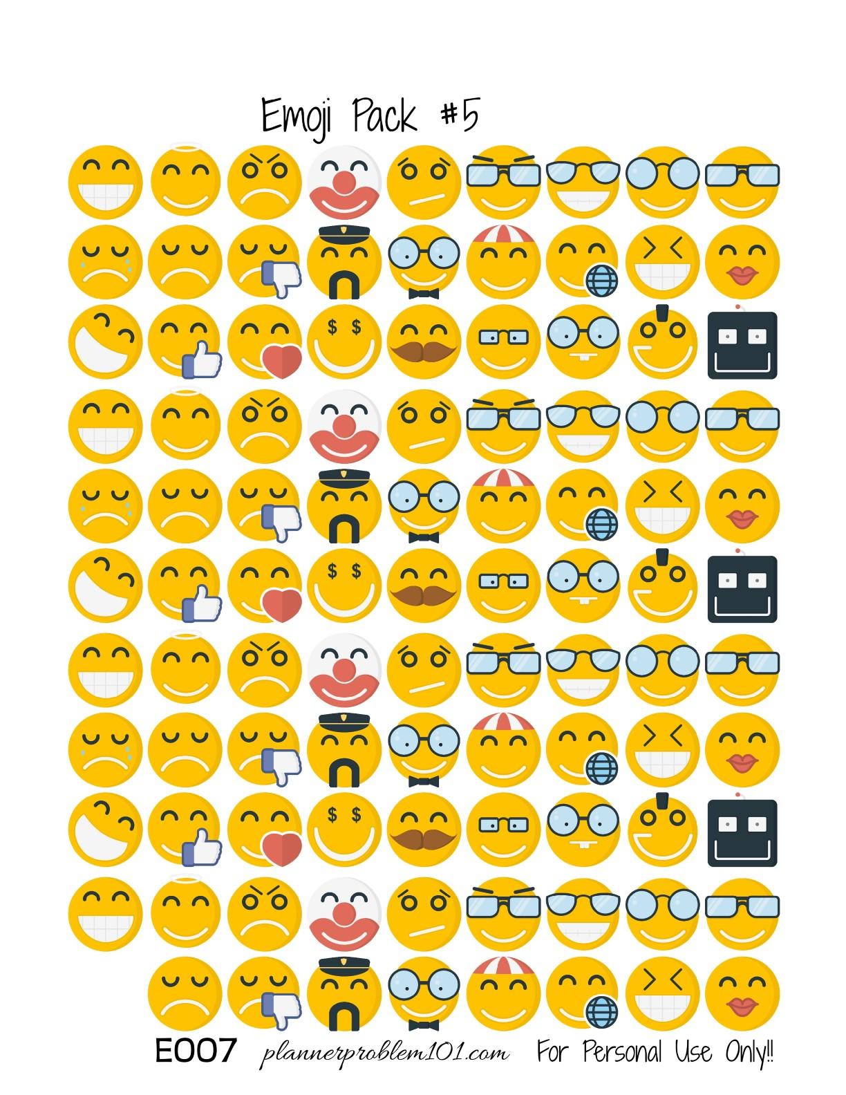 Top Printable Emojis