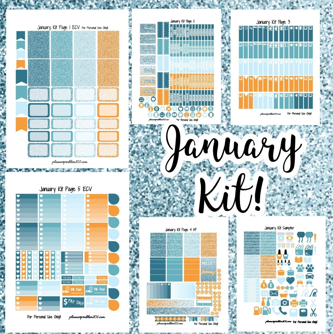 January Colors Weekly Kit