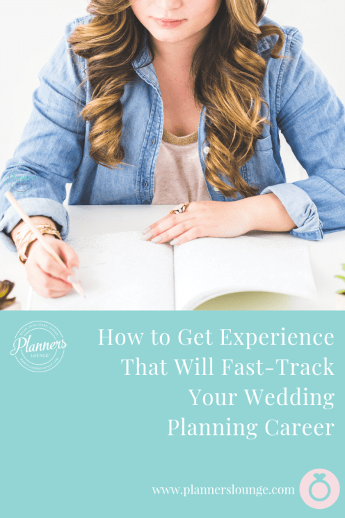 fast track your wedding planning career