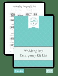 wedding day er kit