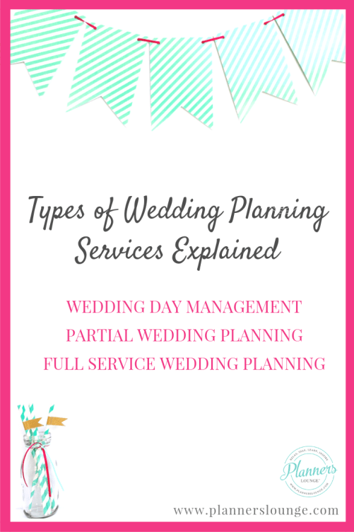 types of wedding planning services offered