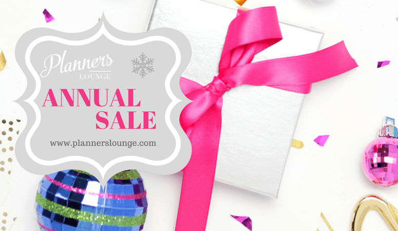 annual sale on Planners Lounge