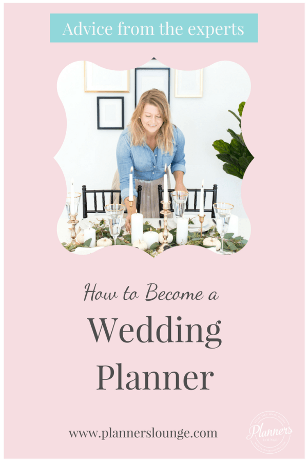 how to get started in a career in wedding planning