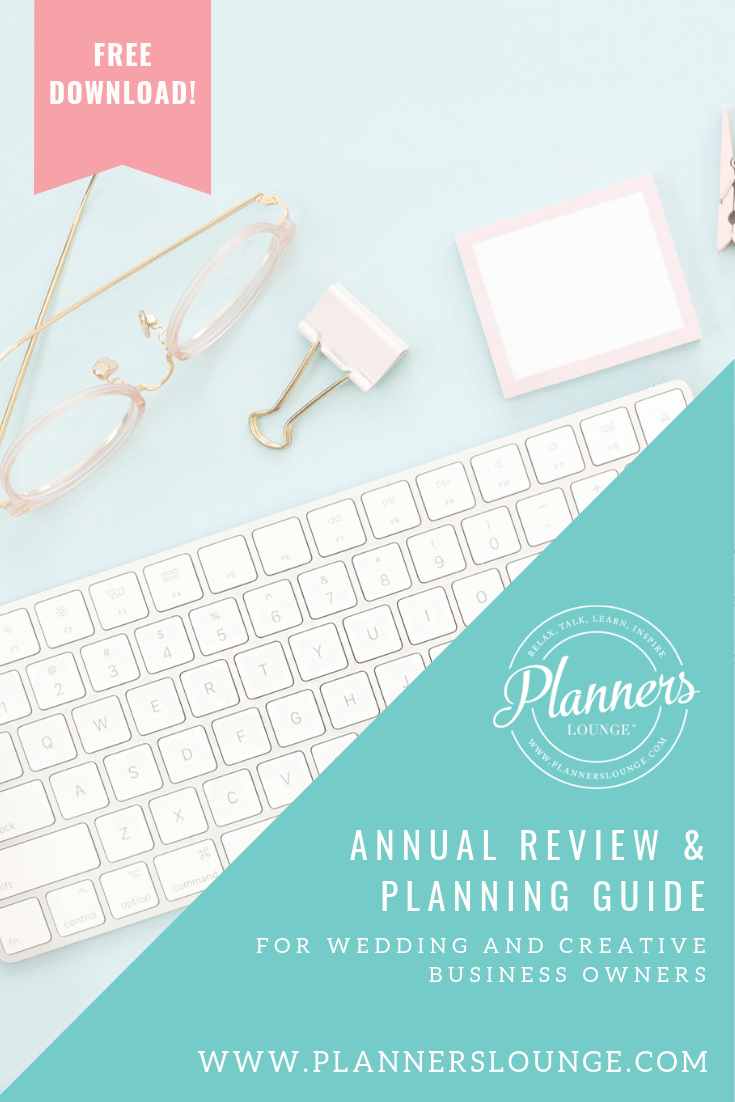 Annual Review & Planning Guide for Wedding and Creative Professionals