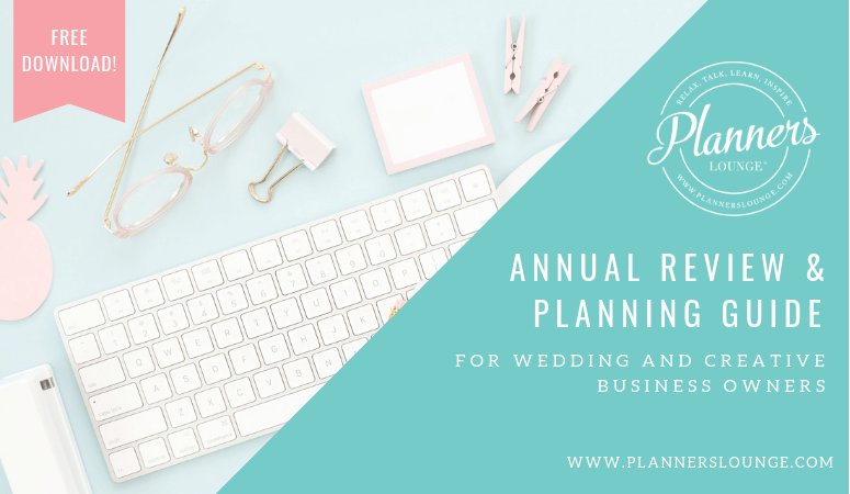 annual review planning guide for wedding and creative professionals