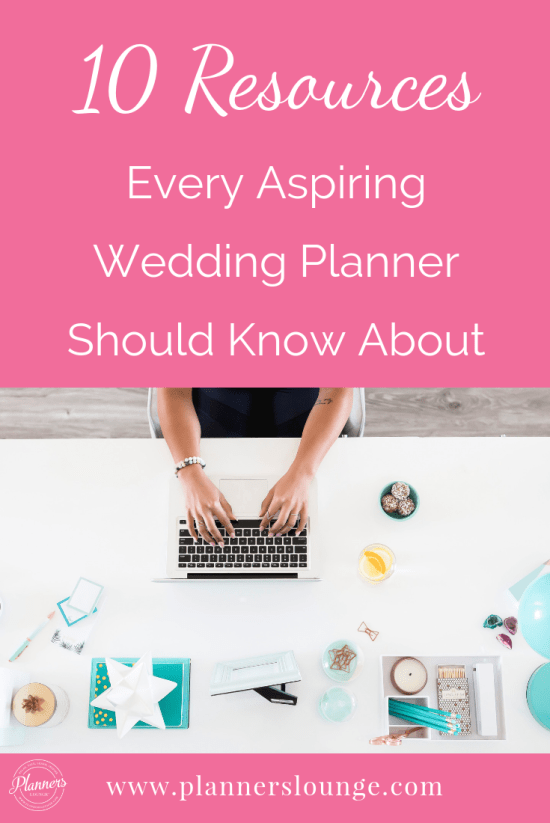 Templates, books, software, courses, advice, and so much more! Here are the top 10 resources for aspiring wedding and event planners from Planner's Lounge.