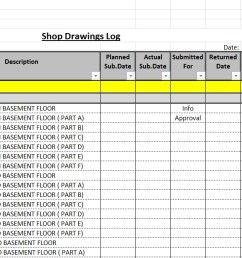 how to create a shop drawings submittas log with sample [ 1396 x 618 Pixel ]