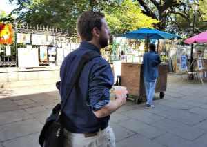 Walking around Jackson Square