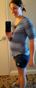 Pregnancy selfie