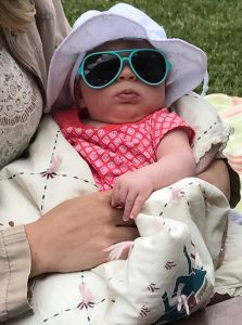 Cora wearing sunglasses.
