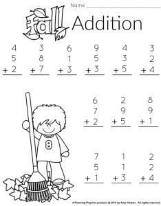 Free printable addition worksheet for st grade math also and literacy worksheets with  freebie planning rh planningplaytime