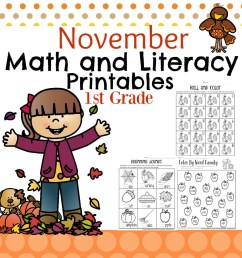 1st Grade Math and Literacy Worksheets with a Freebie! - Planning Playtime [ 1300 x 1040 Pixel ]