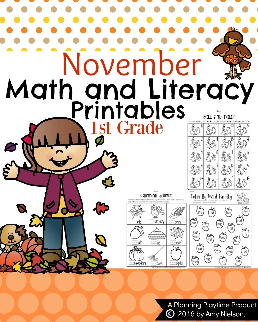 hight resolution of November First Grade Worksheets - Planning Playtime