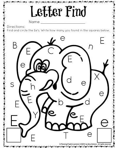 Letter Find Worksheet For Kindergarten And Preschool Great