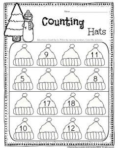 Kindergarten Counting activity - Fill in the numbers by counting 1 more than and 1 less than. #kindergarten #counting #worksheets