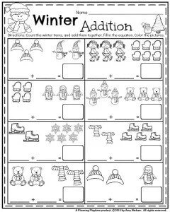 January Kindergarten Worksheets
