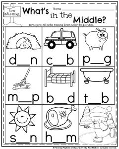 January Kindergarten Worksheets