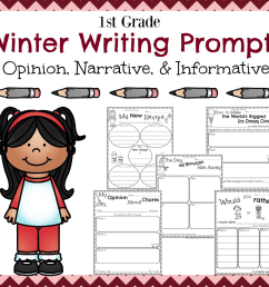 First Grade Writing Prompts for Winter - Planning Playtime [ 996 x 1040 Pixel ]