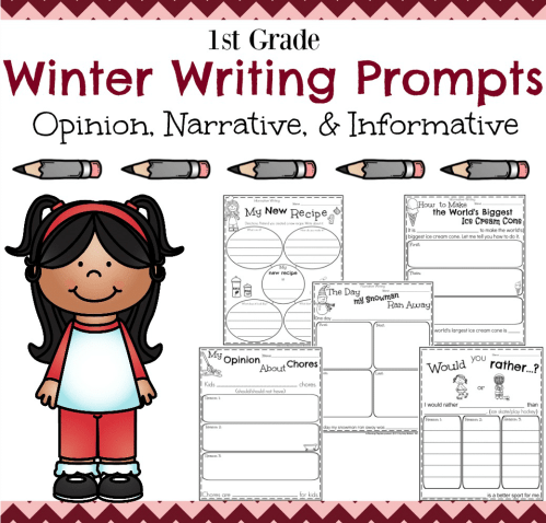 small resolution of First Grade Writing Prompts for Winter - Planning Playtime