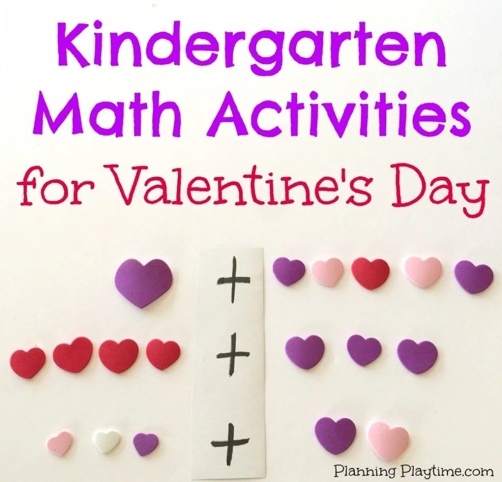 Kindergarten Math Activities For February