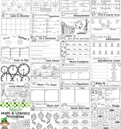March First Grade Worksheets - Planning Playtime [ 1024 x 819 Pixel ]