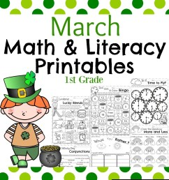 March First Grade Worksheets - Planning Playtime [ 1300 x 1040 Pixel ]