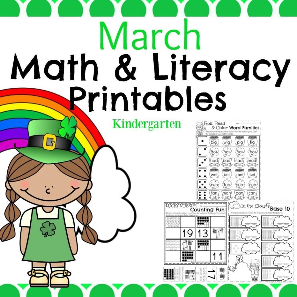medium resolution of March Kindergarten Worksheets - Planning Playtime
