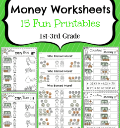 Money Worksheets for 2nd Grade - Planning Playtime [ 1300 x 1040 Pixel ]