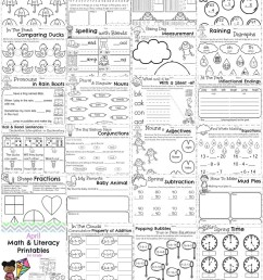 First Grade Worksheets for Spring - Planning Playtime [ 1000 x 800 Pixel ]