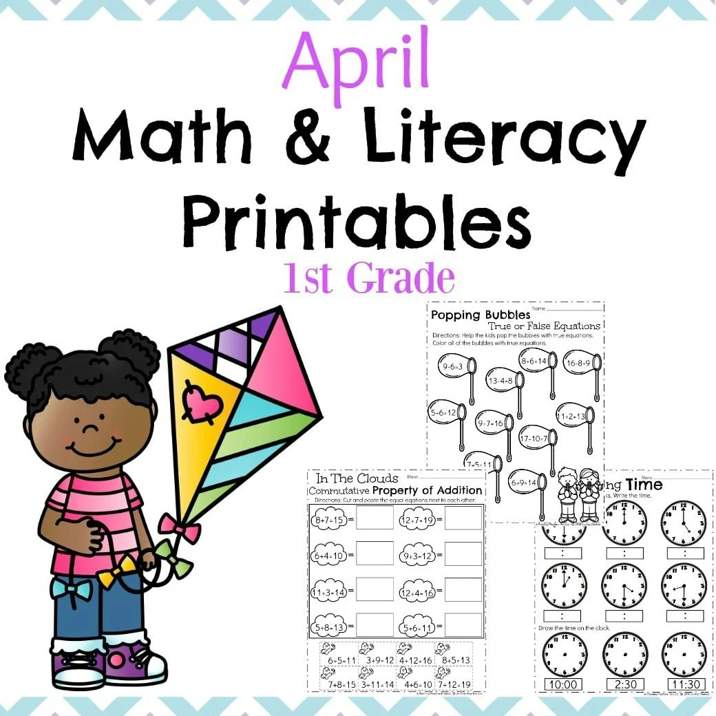 hight resolution of First Grade Worksheets for Spring - Planning Playtime