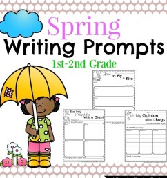 Spring Writing Prompts for First Grade - Planning Playtime [ 1024 x 819 Pixel ]