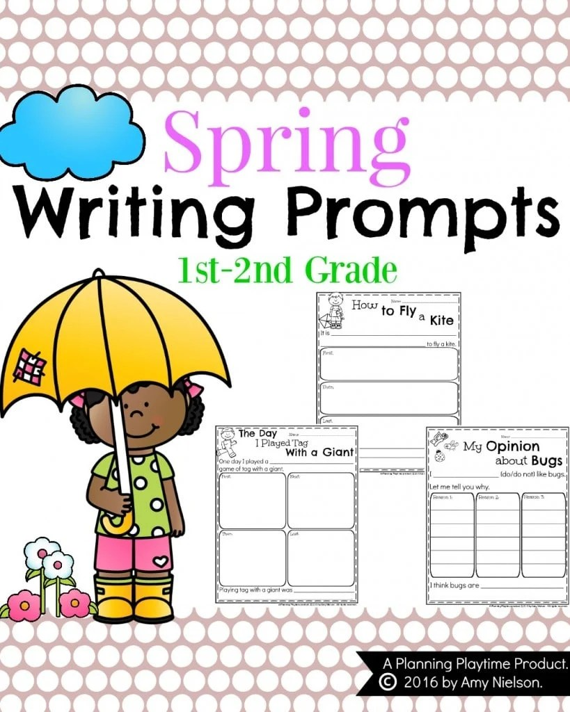 medium resolution of Spring Writing Prompts for First Grade - Planning Playtime