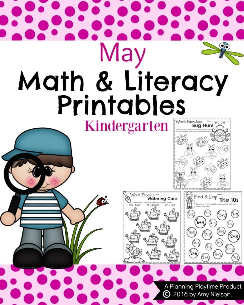 hight resolution of Kindergarten Worksheets for May - Planning Playtime